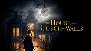 the house with a clock in the wall
